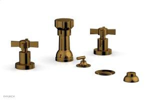 BASIC Four Hole Bidet Set - Blade Cross Handles D4137 - French Brass Product Image