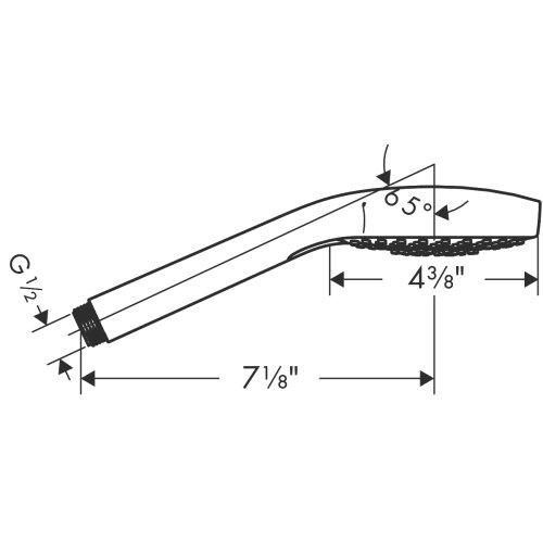 Brushed Nickel Handshower 110 Vario-Jet, 2.5 GPM