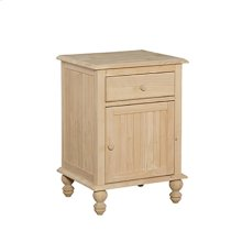 BD-2001 Cottage 1 Drawer Nightstand with 1 Door