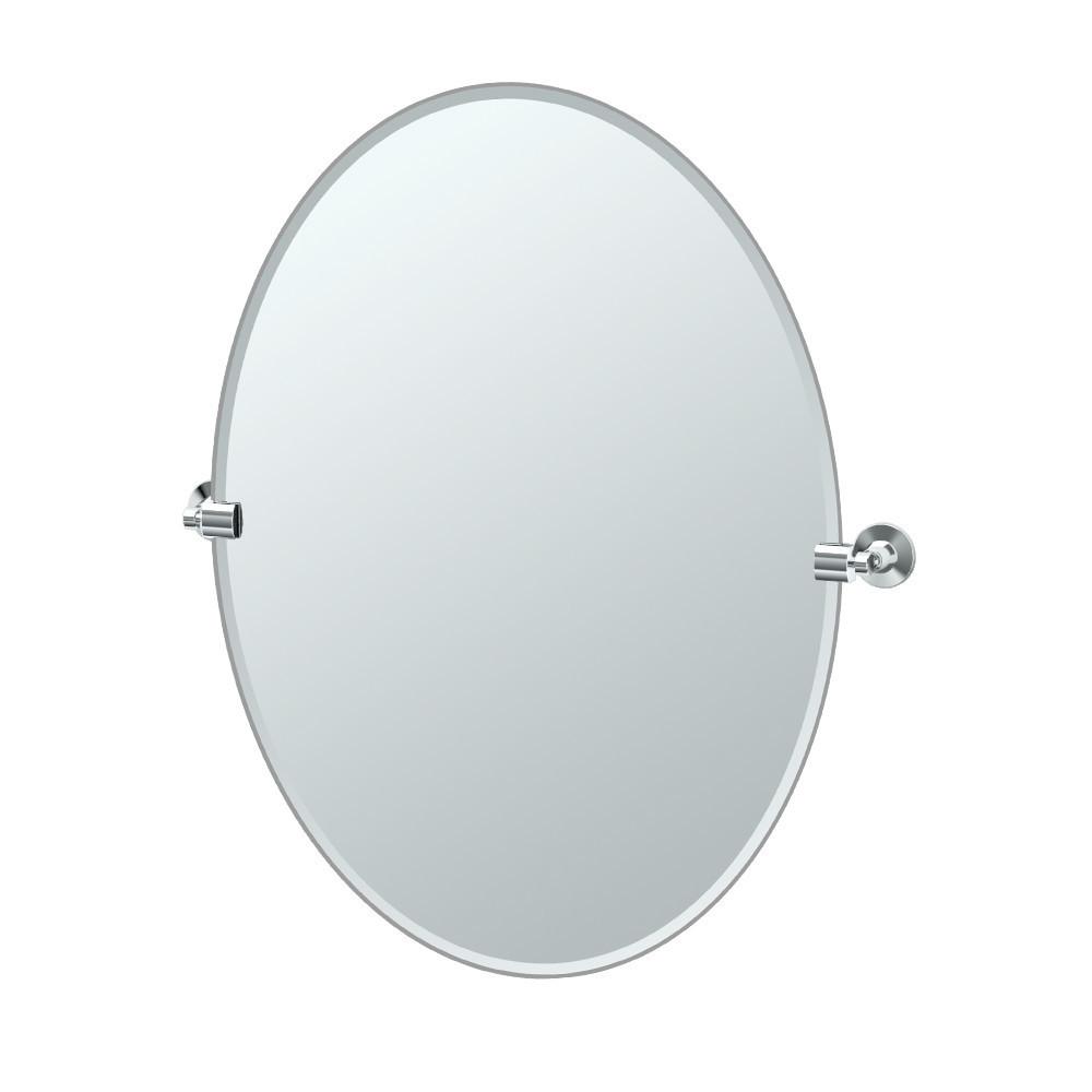 Max Oval Mirror in Chrome