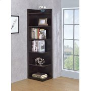 Transitional Cappuccino Corner Bookcase Product Image