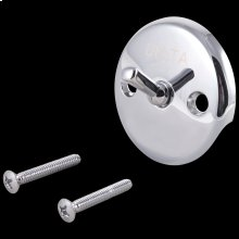 Chrome Overflow Plate & Screws - Trip Lever