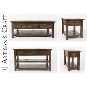 Artisan's Craft Chairside Table - Dakota Oak