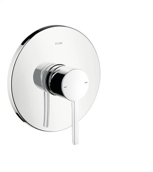 Chrome Single lever shower mixer for concealed installation with lever handle Product Image