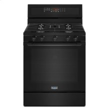 30-Inch Wide Gas Range With True Convection And Power Preheat - 5.8 Cu. Ft. Black