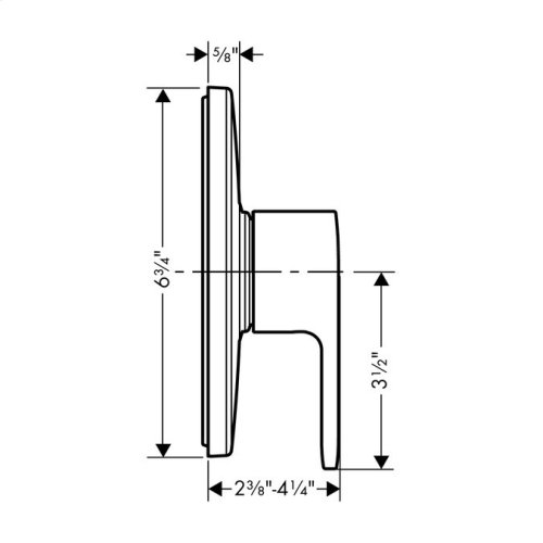 Brushed Nickel Pressure Balance Trim E