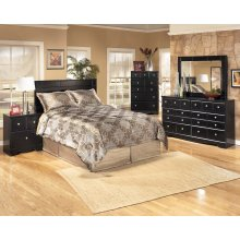 Shay - Almost Black 5 Piece Bedroom Set