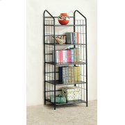 Home Office Casual Black Bookcase Product Image
