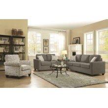 Bardem Grey Three-piece Living Room Set