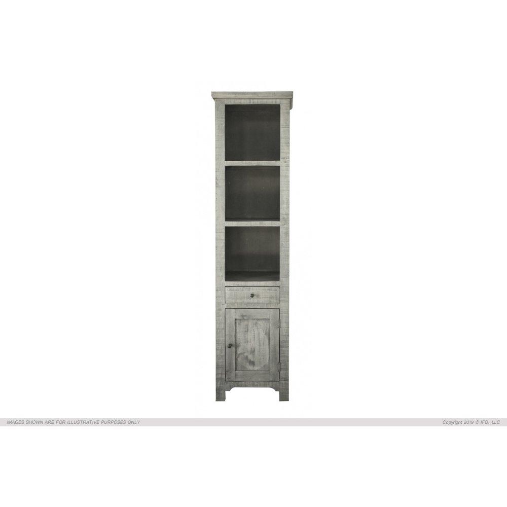 1 Drawer, 1 Door & 3 Shelves Bookcases, Stone Finish
