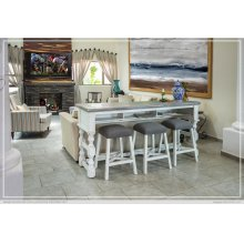 Bar Height Sofa Table w/Casters
