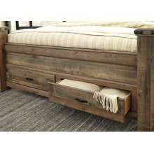 Queen Footboard Storage Box