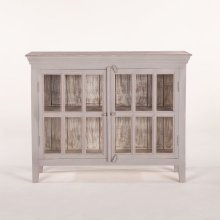 """Coral Gables 52"""" Glass Cabinet Graywash"""