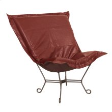 Scroll Puff Chair Avanti Apple Titanium Frame