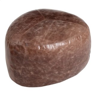 Salvatore Leather Ottoman Antique Brown