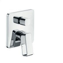 Stainless Steel Optic Single lever bath mixer for concealed installation
