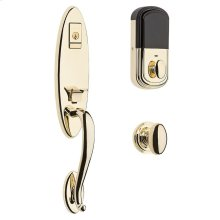 Lifetime Polished Brass Evolved Blakely Handleset