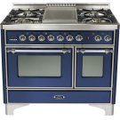 "Midnight Blue 40"" Griddle Top Majestic Techno Dual Fuel Range Product Image"