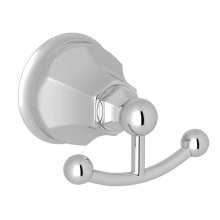 Polished Chrome Palladian Double Robe Hook