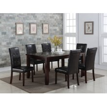 Elias Faux Marble Inlay Dining Table