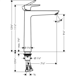 Chrome Single-Hole Faucet 240, 1.2 GPM