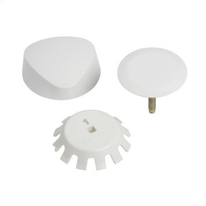 TurnControl Bath Waste and Overflow A dazzling turn Molded plastic - White Material - Finish Product Image