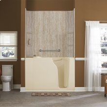 Gelcoat Premium Series 30x52-inch Walk-In Bathtub with Air Spa System  American Standard - Linen