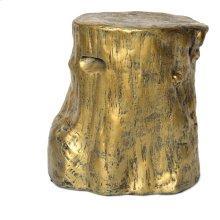 Log Stool Gold