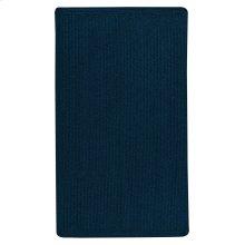 Heathered Pinwheel Navy Blue Solid Braided Rugs