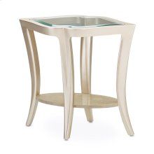 End Table W/glass Chardonnay