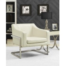 Contemporary Off-white Accent Chair