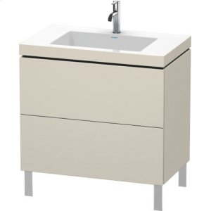 Furniture Washbasin C-bonded With Vanity Floorstanding, Taupe Matt (decor)