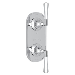 """Polished Chrome San Giovanni Trim For 1/2"""" Thermostatic/Diverter Control Rough Valve with Metal Lever Product Image"""