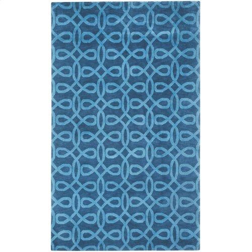 Lyrical Indigo Blue Hand Knotted Rugs