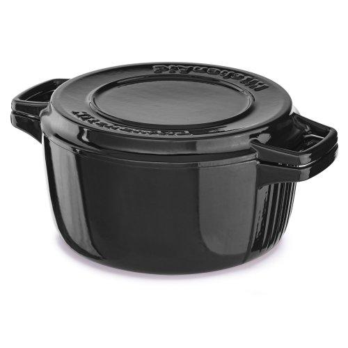 Professional Cast Iron 4-Quart Casserole Onyx Black