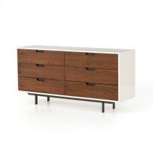 Tucker 6 Drawer Dresser-white