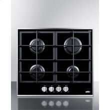 4-burner Gas-on-glass Cooktop With Sealed Burners and Cast Iron Grates