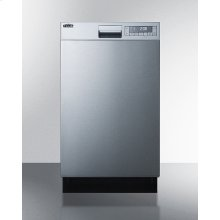"""18"""" Wide Energy Star Certified Built-in Dishwasher Made In Europe A With Stainless Steel Door and Front Controls"""