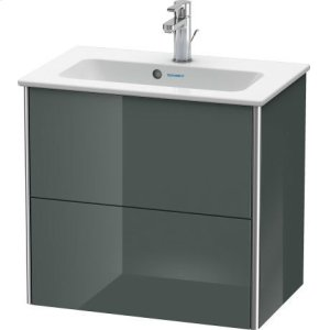 Vanity Unit Wall-mounted Compact, Dolomiti Gray High Gloss (lacquer)