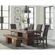 Binghamton Rustic Grey Sheesham Dining Table Product Image