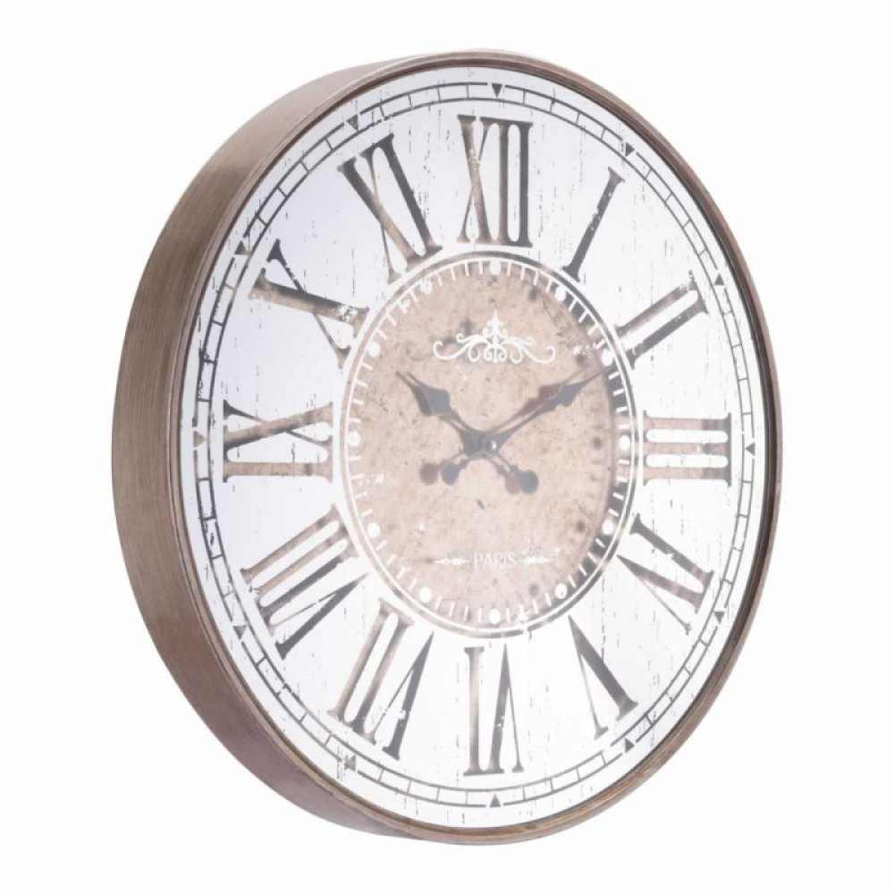 Hora Clock Antique Silver