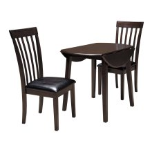Hammis - Dark Brown 3 Piece Dining Room Set