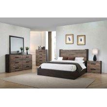 Weathered Oak and Rustic Coffee Five-piece Queen Bedroom Set