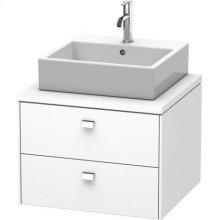 Brioso Vanity Unit For Console, White Matte