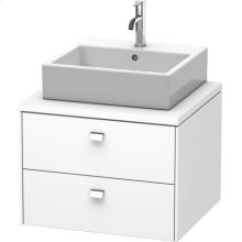 Brioso Vanity Unit For Console, White Matte