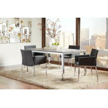 Eldridge Contemporary Weathered Grey Dining Table
