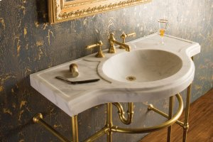 Renaissance Console Top Honed Carrara Marble Product Image