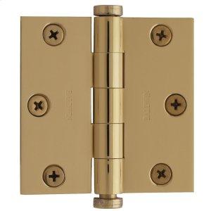 Lifetime Polished Brass Square Corner Hinge Product Image