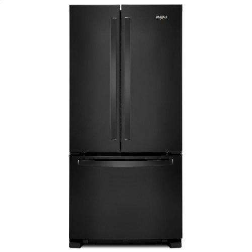 33-inch Wide French Door Refrigerator - 22 cu. ft. Black