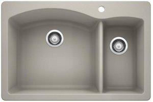 Blanco Diamond 1-1/2 Bowl - Concrete Gray Product Image